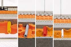 BEKOTEC-THERM steht in verschiedenen Aufbauhöhen zur Verfügung.